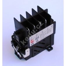 Relé Kedu JD3 , 400V/50Hz , max. 4kW/9A s dodatečným kontaktem