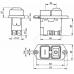 Vypínač KEDU KJD17B- C (KJD 17B) na 4 kontakty