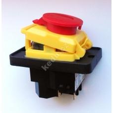 Vypínač KEDU KJD 18 STOP-tlačitko 400V na 7 konektoru